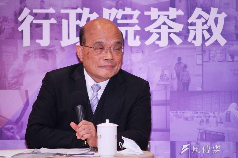 行政院長蘇貞昌(見圖)傳出在民進黨內民調出現「死亡交叉」,外界猜測是被黨內派系攻擊。(資料照,蔡親傑攝)