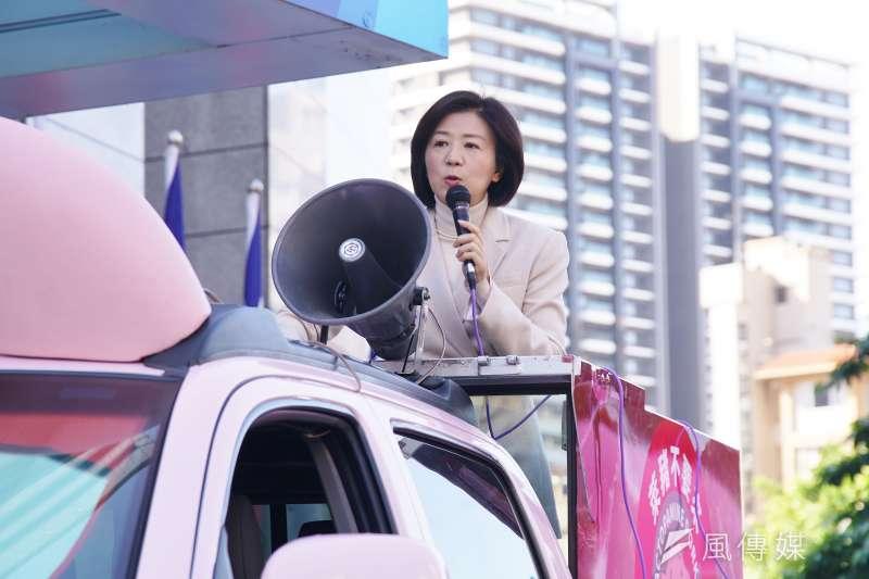 20210114-國民黨14日召開「反萊豬、要公投全台連署」 宣講活動暨反萊豬皮卡亮相記者會,文傳會主委王育敏主持。(盧逸峰攝)