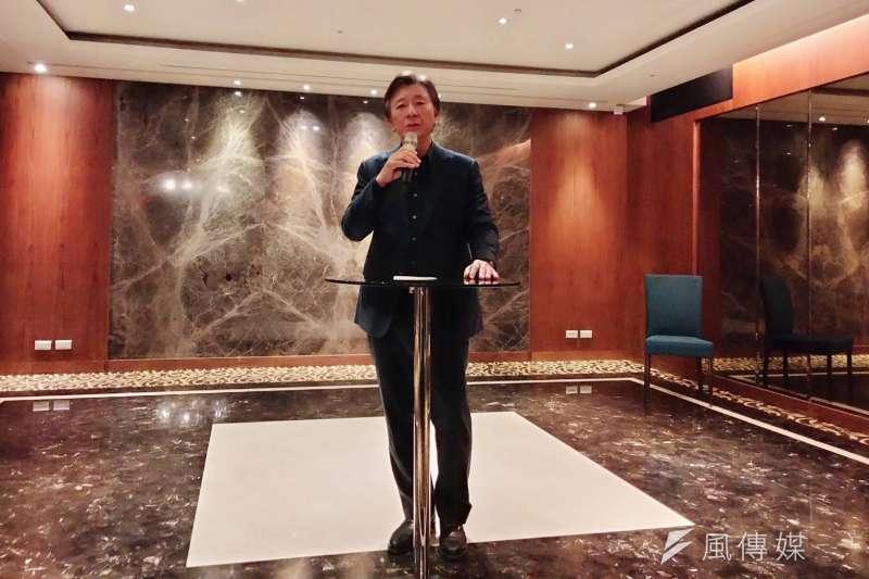 甲桂林廣告副董事長曹瑞濱表示,2020年是全球經濟表現最糟糕的一年,但台灣卻是最好時代的開始。(林喬慧攝)