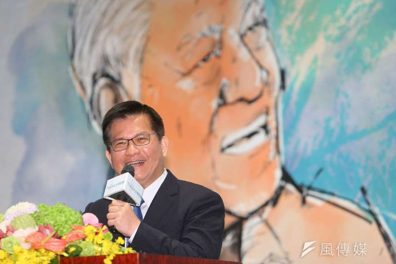 台灣智庫共同創辦人林佳龍(見圖)今日出席台灣智庫李登輝學研討會。(顏麟宇攝)