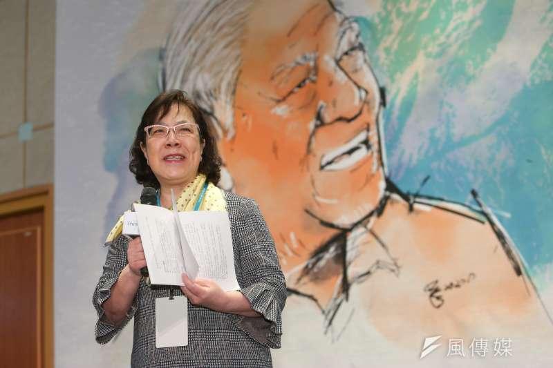 20210115-李登輝基金會董事長李安妮15日出席台灣智庫李登輝學研討會。(顏麟宇攝)
