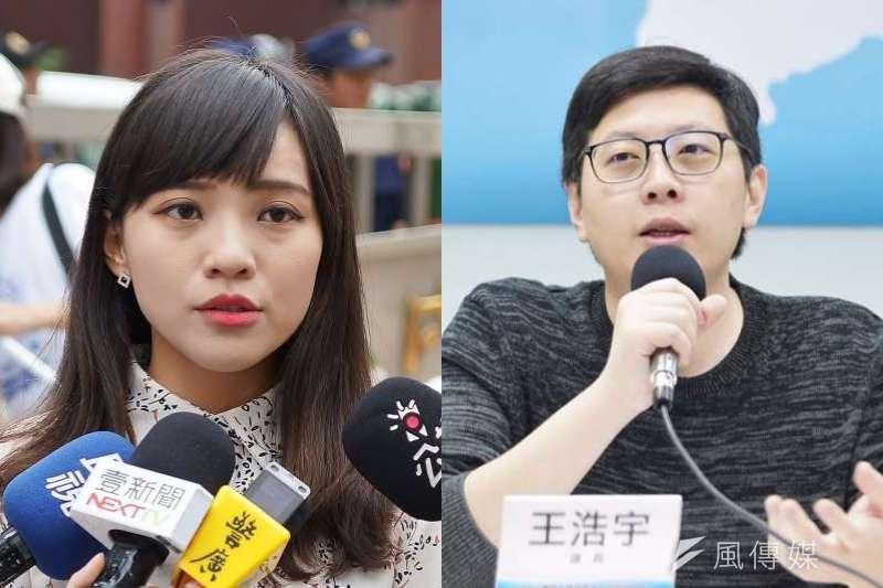 無黨籍高雄市議員黃捷(左)挺過罷免危機,之前市議員職務遭罷免的王浩宇(右)在臉書做出分析。(資料照,盧逸峰攝/圖片合成:風傳媒)
