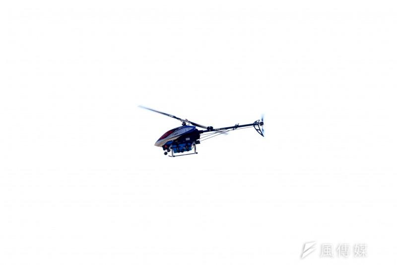 20210119-陸軍六軍團19日在新竹湖口中興台實施「反滲透重要目標防護演練」,派出無人機參與演練。(蘇仲泓攝)