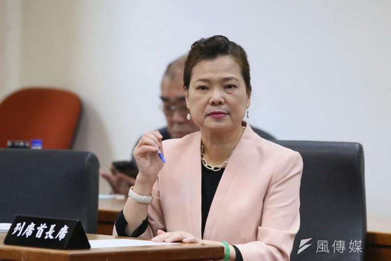 經濟部長王美花主張,經濟部應有更多工合比例的主導權。(柯承惠攝)