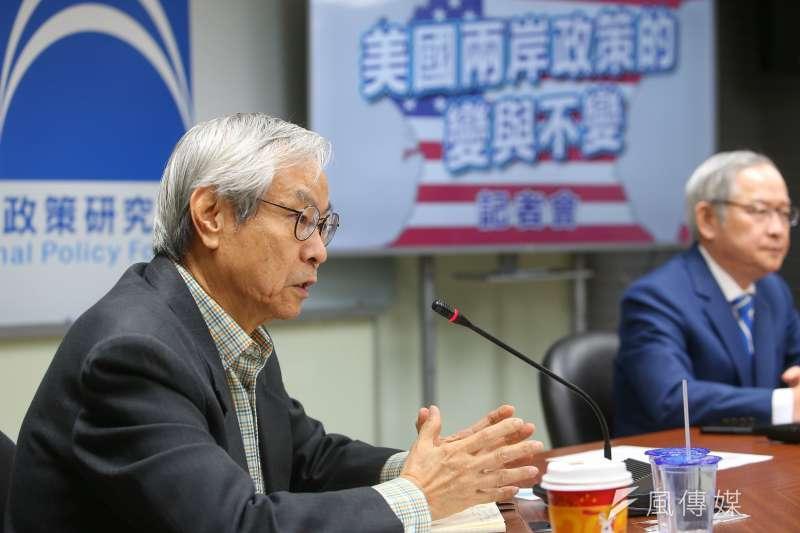 20210122-前國安會諮詢委員邱坤玄22日召開「美國兩岸政策的變與不變」記者會。(顏麟宇攝)