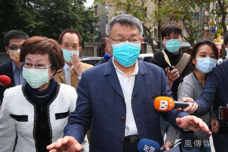 國民黨黨主席江啟臣邀台北市長柯文哲參加論壇,引來藍營基層選將反彈。(資料照片,顏麟宇攝)