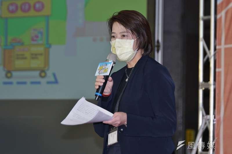 台北市副市長黃珊珊(見圖)表示,北市第1波新冠肺炎疫苗施打對象就有5萬人。(資料照,盧逸峰攝)