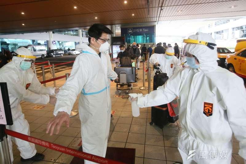 20210126-桃園機場旅客入境。(柯承惠攝)