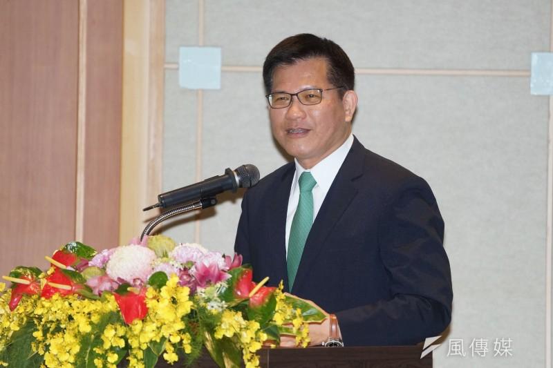 交通部長林佳龍26日出席新春記者會。(盧逸峰攝)