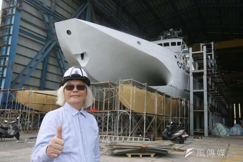 韓碧祥指出,中信造船集團產能目前已滿載到5年後,正計畫申請上市。(柯承惠攝)
