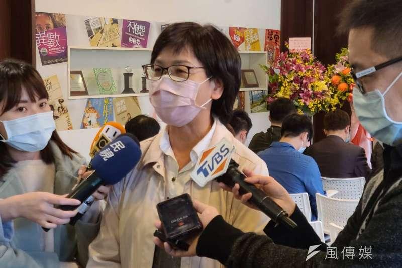 民眾黨立委蔡壁如(見圖)31日出席新書座談。(潘維庭攝)