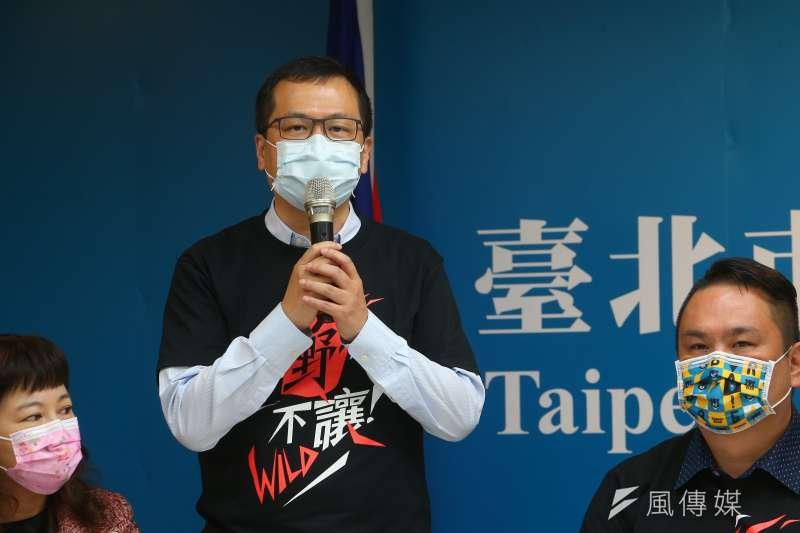 國民黨市議員羅智強1日出席罷瑤總部啟動記者會。(資料照,顏麟宇攝)