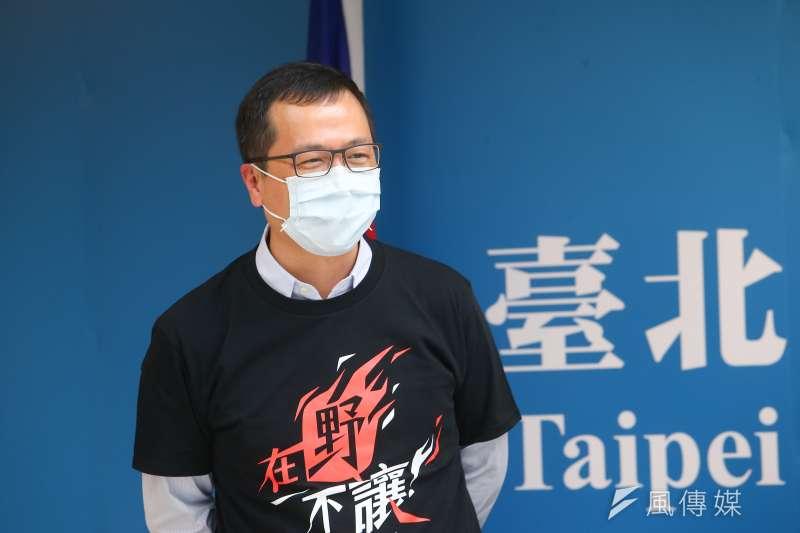 中國河南水患成災,國民黨市議員羅智強宣布捐款援助。(資料照,顏麟宇攝)