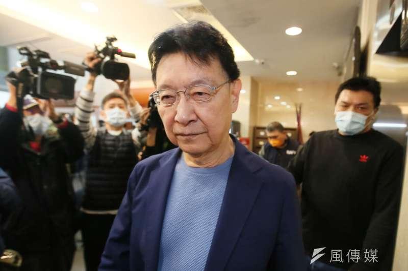 中廣董事長趙少康說明重返國民黨一事。(柯承惠攝)