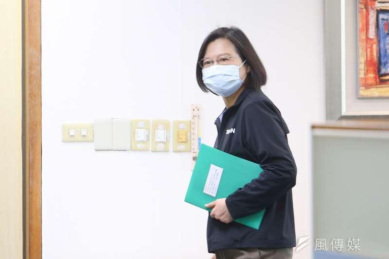 20210203-總統蔡英文3日出席民進黨中常會。(顏麟宇攝)