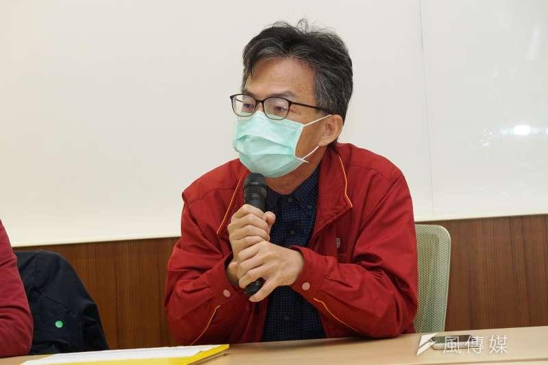 20210208-前榮總醫師蘇偉碩8日召開「高雄空污殺童,為南部父母請命」記者會。(盧逸峰攝)