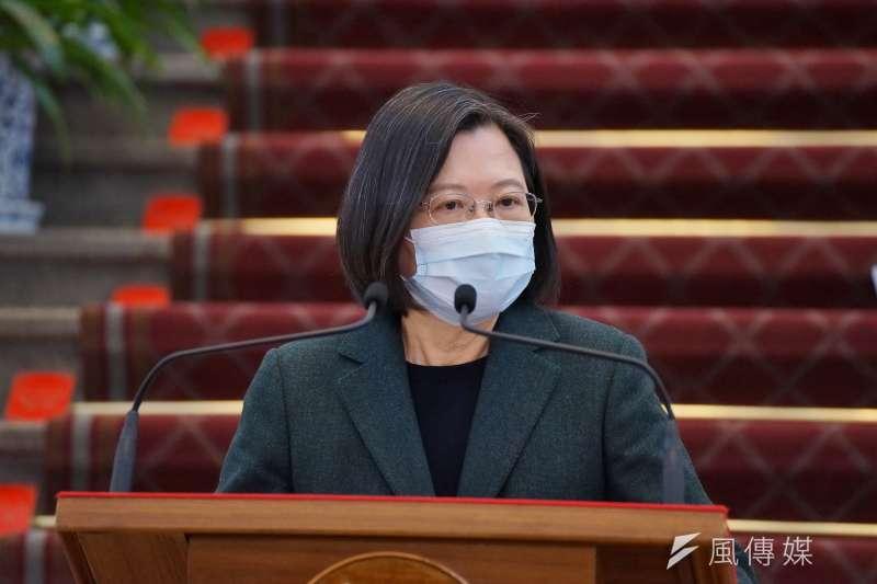 日本前首相安倍晉三郎今天在接受《產經新聞》訪問時也證實,在日本正研擬提供疫苗支援台灣之際,曾接到總統蔡英文(見圖)的致謝電話。(資料照,盧逸峰攝)