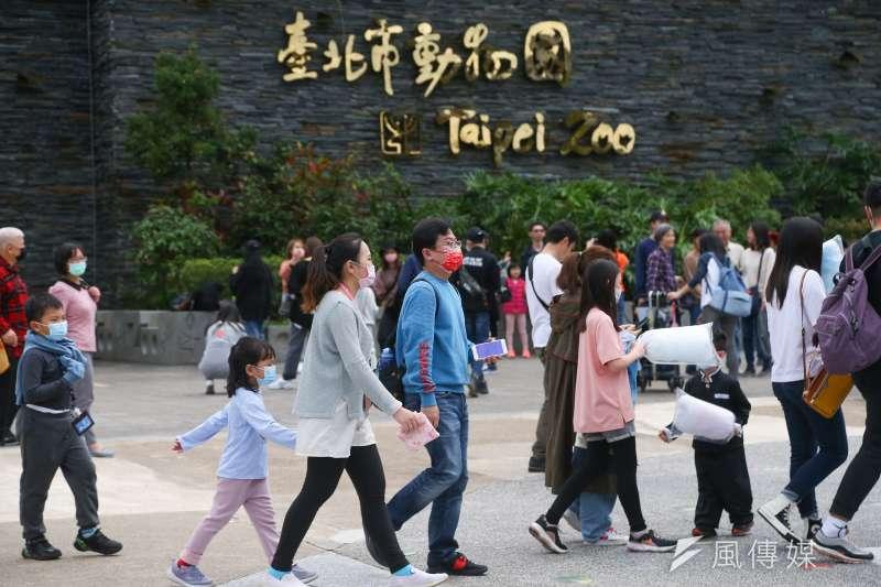20210216-年假台北市立動物園出遊人潮。(顏麟宇攝)