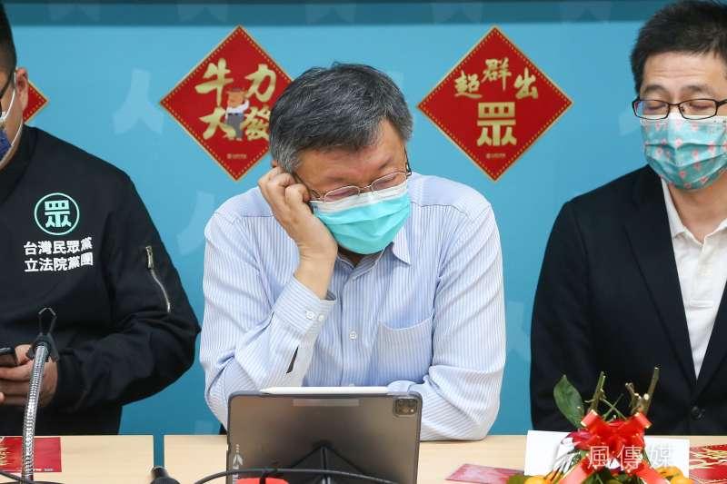 「宅神」朱學恒指出,民進黨立委陳明文的女兒陳冠穎在書中透露,台北市長柯文哲(見圖)決定不參加2020年總統大選的原因。(資料照,顏麟宇攝)