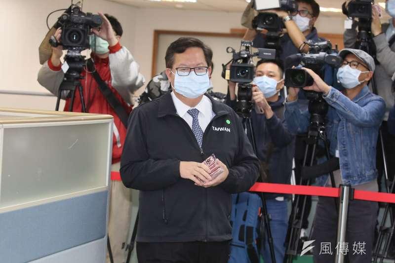 20210217-桃園市長鄭文燦17日出席民進黨中常會。(柯承惠攝)