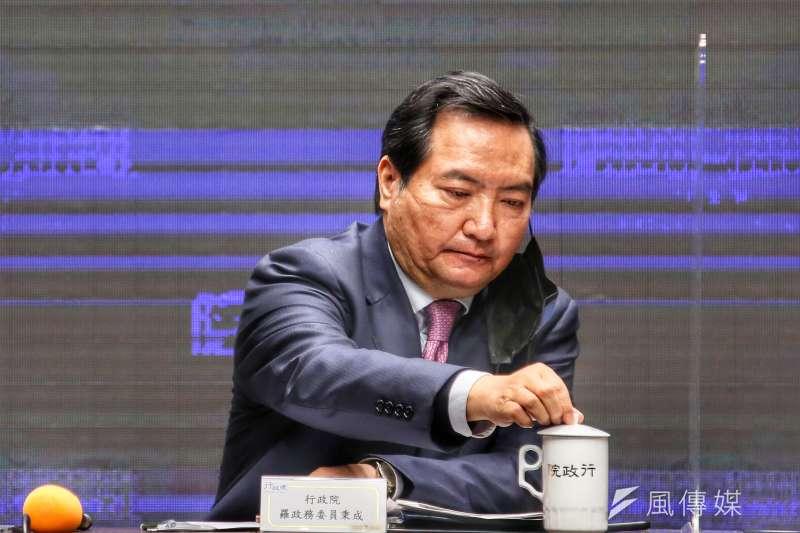 20210218-行政院政務委員兼行政院發言人羅秉成。(柯承惠攝)
