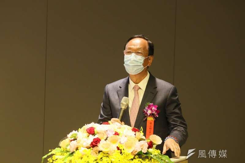 郭台銘(見圖)18日下午將前往總統府與總統蔡英文商討疫苗捐贈一事。(資料照,柯承惠攝)
