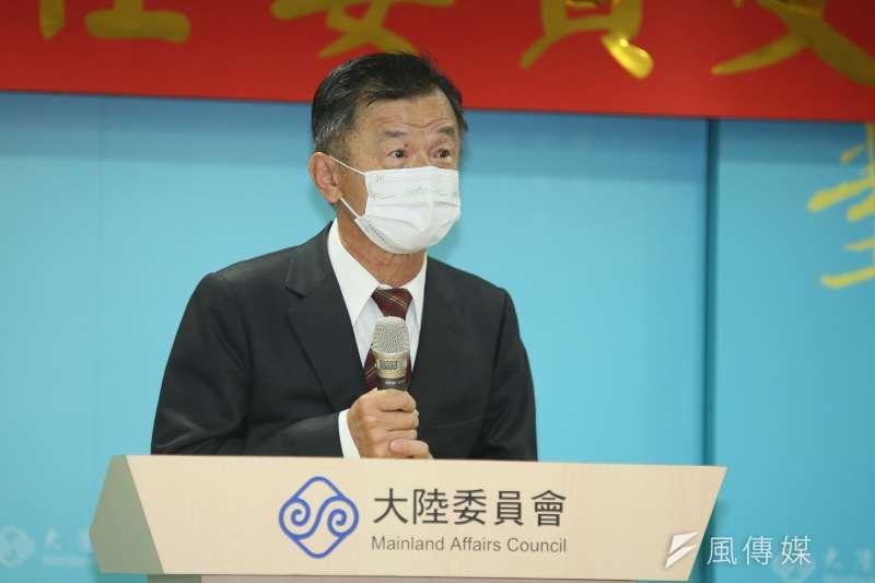 陸委會主委邱太三回應九二共識等相關問題。(資料照片,柯承惠攝)