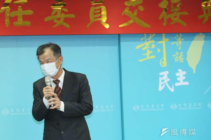 陸委會主委邱太三上任後開始拜訪朝野立委。(資料照片,柯承惠攝)
