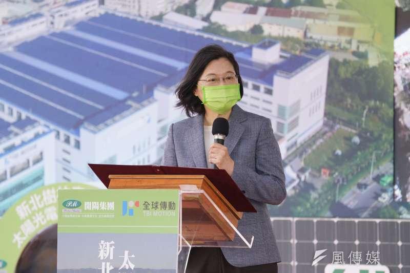 總統蔡英文(見圖)去年就職典禮上所點名的「數位發展部」,被行政院長蘇貞昌列為首波組改要務。(資料照,盧逸峰攝)