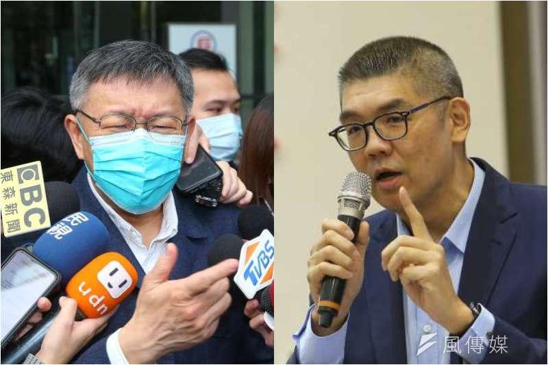 國民黨近日邀請台北市長柯文哲參與24日舉辦的論壇,卻傳出智庫副董事長連勝文抱怨他在最後一刻才被告知。(資料照,顏麟宇攝/照片合成:風傳媒)