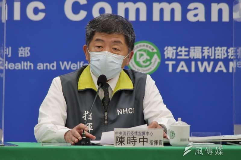 中央流行疫情指揮中心23日宣布新增2例境外、1例本土個案,另有1例調查中。圖為指揮中心指揮官陳時中。(資料照,盧逸峰攝)