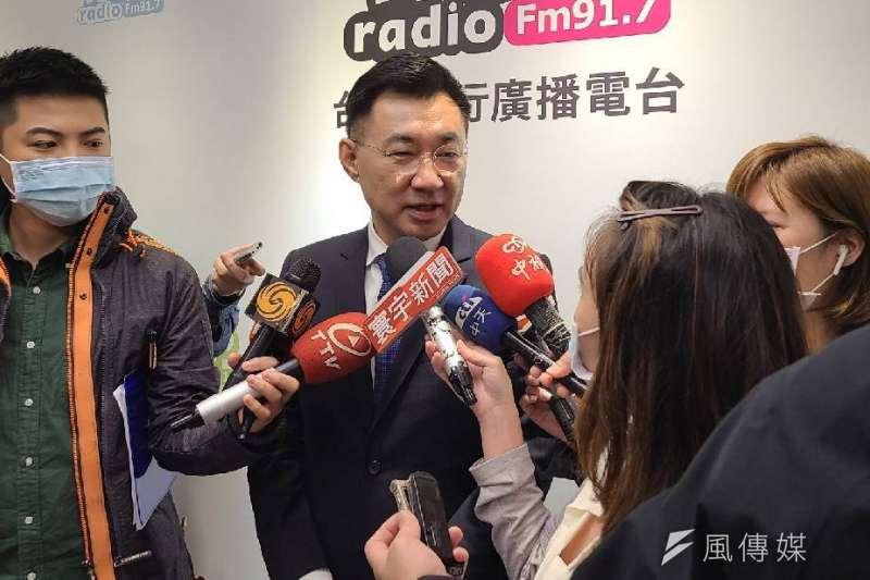 20210224-國民黨主席江啟臣24日上午接受廣播專訪,表示「2024年(總統選舉)不在他的生涯規劃」。(潘維庭攝)