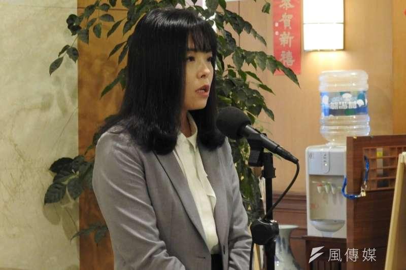 民眾黨立委高虹安24日於立法院接受媒體訪問。(潘維庭攝)