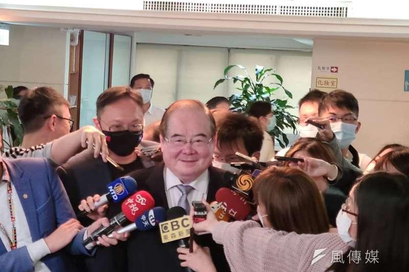 李乾龍強調黨主席候選資格不能因人設事。(資料照,潘維庭攝)