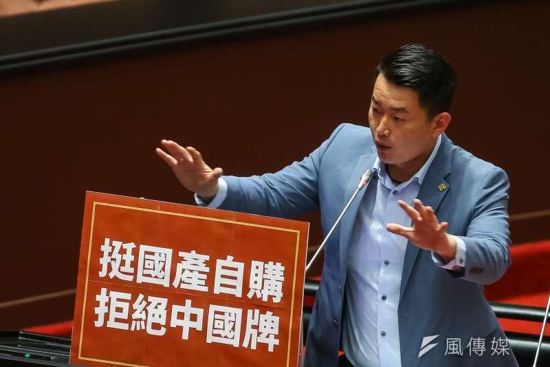 20210226-台灣基進立委陳柏惟26日於院會質詢。(顏麟宇攝)