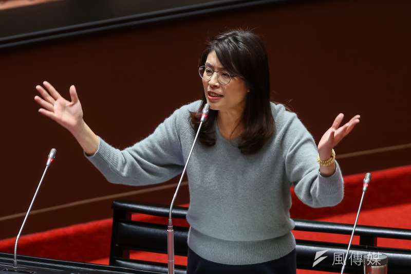 20210226-國民黨立委鄭麗文26日於院會質詢。(顏麟宇攝)
