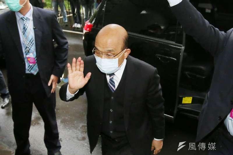 行政院長蘇貞昌2日至立法院施政報告並備詢,會前接受媒體訪問。(資料照,柯承惠攝)
