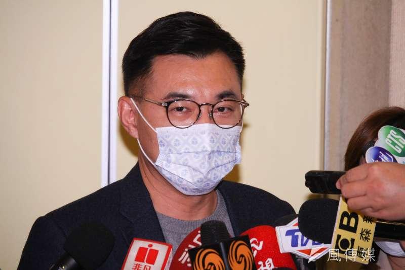 國民黨主席江啟臣表示,國民黨對議題合作的態度必須開放,但選舉歸選舉,大家各憑本事,各自去爭取。(資料照,蔡親傑攝)