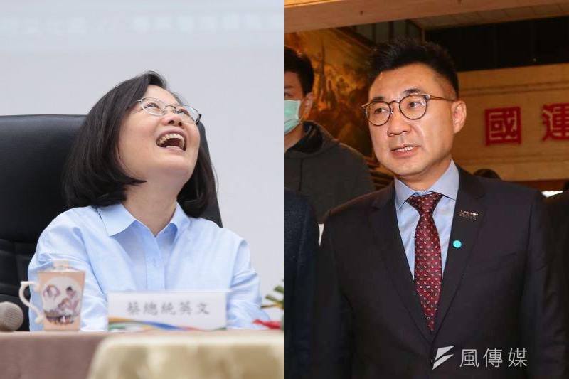 孫文學校校長張亞中3日狠酸江啟臣「讓民進黨笑了」,既是高興的笑,也是嘲笑的笑。(資料照,顏麟宇攝/照片合成:風傳媒)