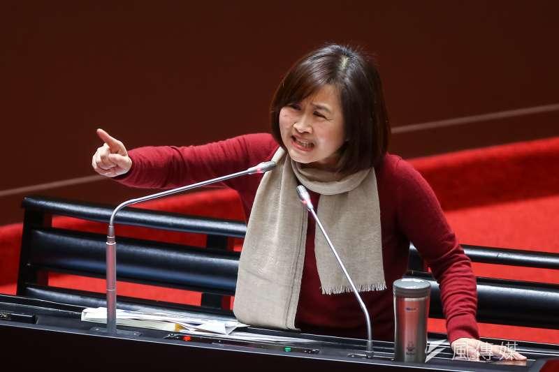 20210305-國民黨立委林奕華5日於立院質詢。(顏麟宇攝)