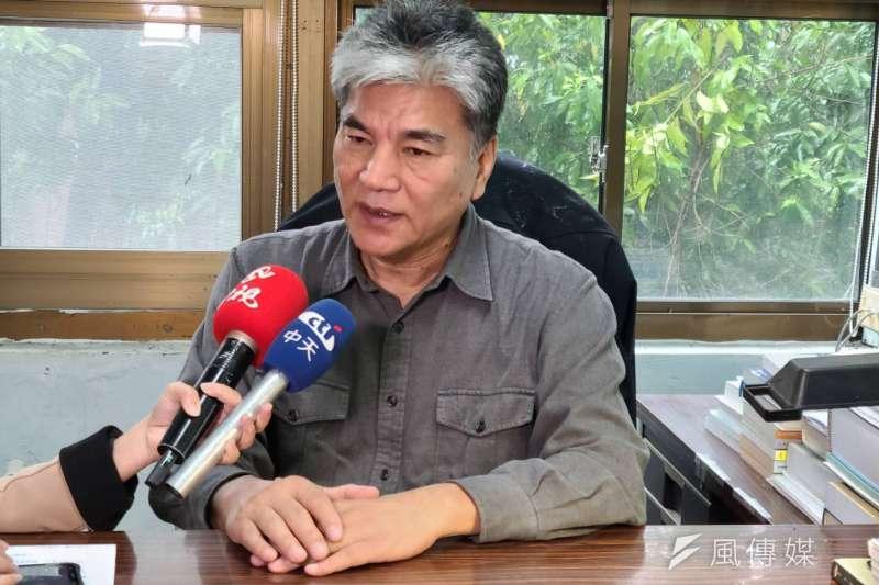 針對缺水議題,前內政部長李鴻源6日接受媒體訪問。(潘維庭攝)