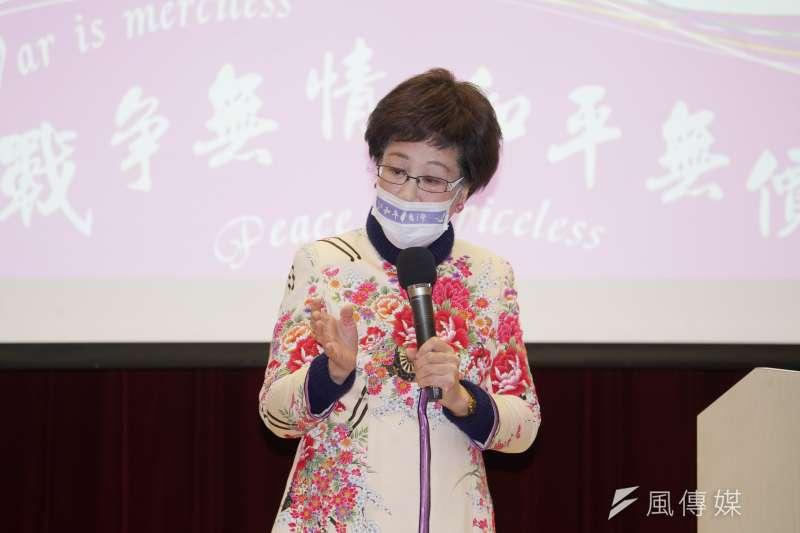 前副總統呂秀蓮表示,新任陸委會主委上任時曾盼兩岸關係是「春暖花開」,怎料現在卻又變成「春寒料峭」。(盧逸峰攝)