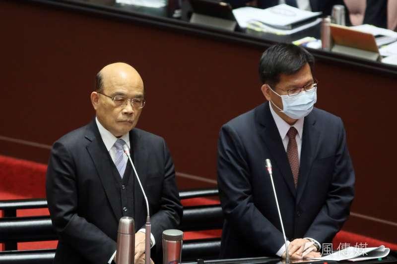 吳子嘉分析,2022年民進黨會敗選,屆時行政院長蘇貞昌非離開不可,內閣改組當然會有林佳龍的份。 (資料照,柯承惠攝)