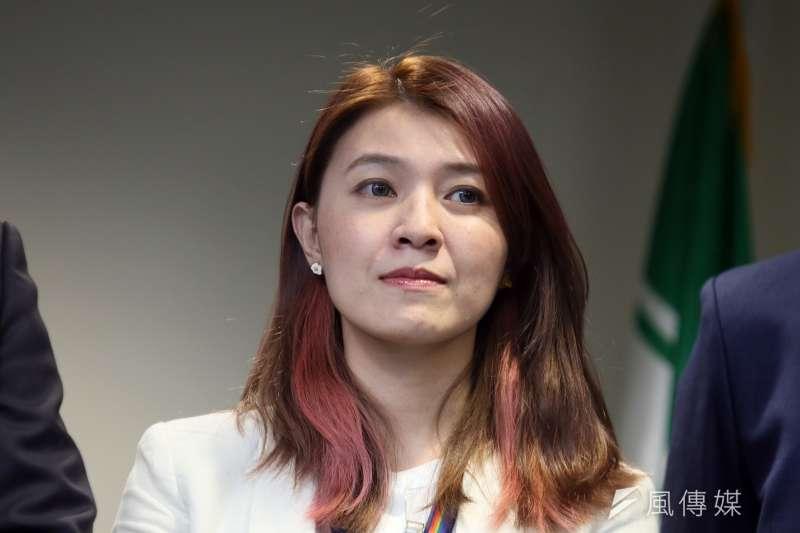 民進黨發言人顏若芳宣布6月8日施政說明會暫緩。(資料照片,柯承惠攝)