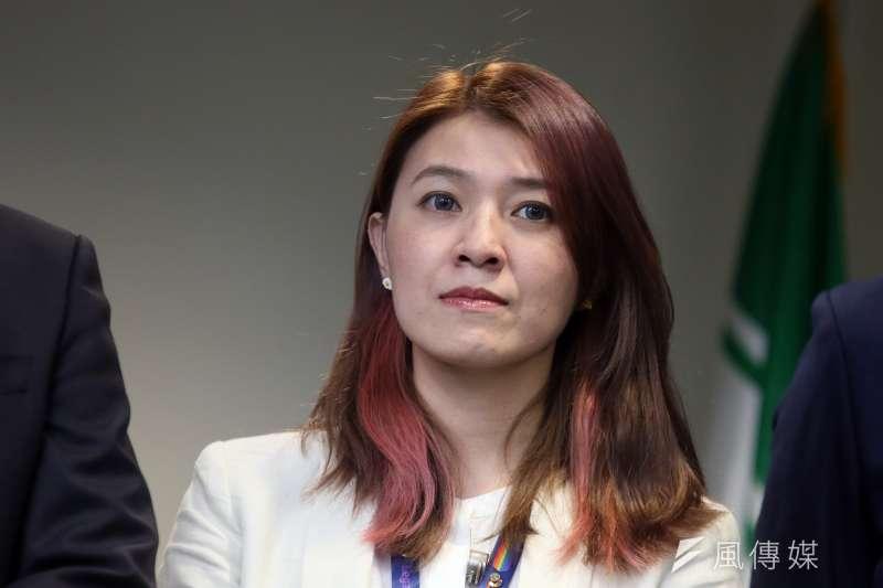 民進黨發言人顏若芳(見圖)15日晚發文針對租屋事件道歉。(資料照,柯承惠攝)