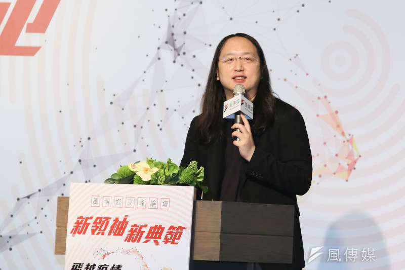 行政院數位政委唐鳳火速開發「簡訊實聯制」。(資料照,柯承惠攝)