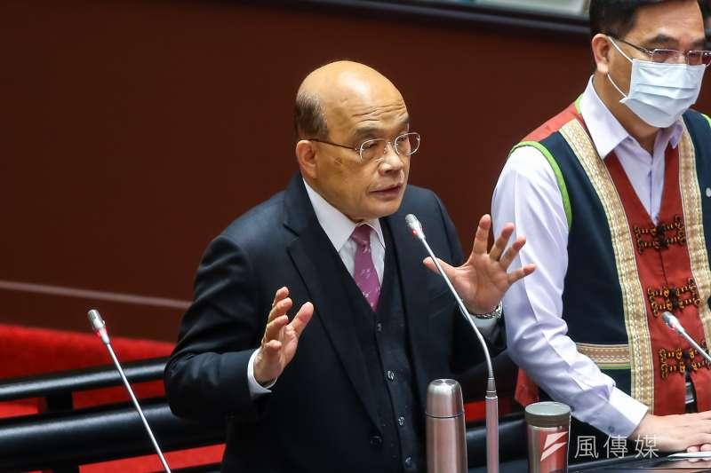 NCC應該拒絕政治干預,包括行政院長的干擾。圖為行政院長蘇貞昌於立院備詢。(顏麟宇攝)