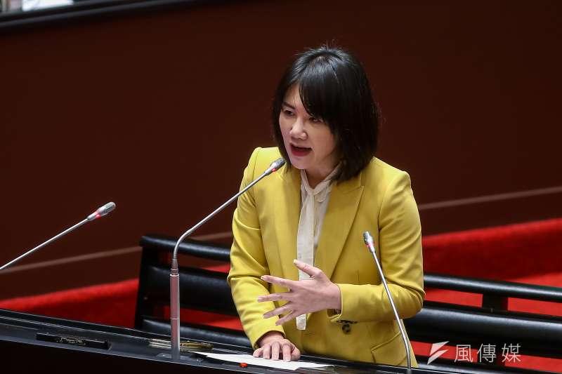 20210312-國民黨立委謝衣鳳12日於立院質詢。(顏麟宇攝)