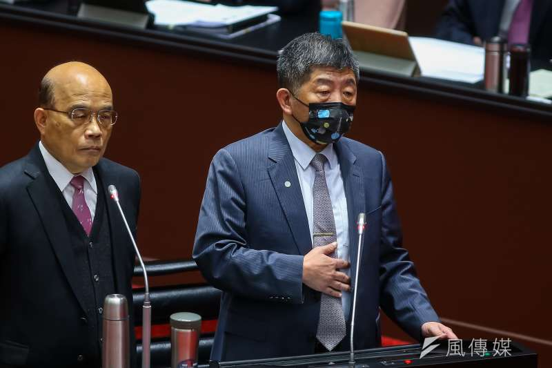 20210312-衛福部長陳時中12日於立院備詢。(顏麟宇攝)