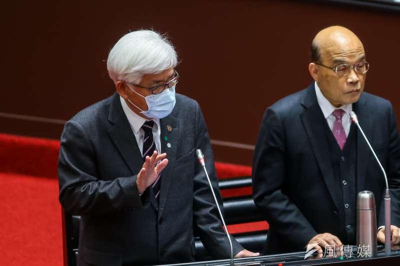 20210312-中選會主委李進勇12日於立院備詢。(顏麟宇攝)